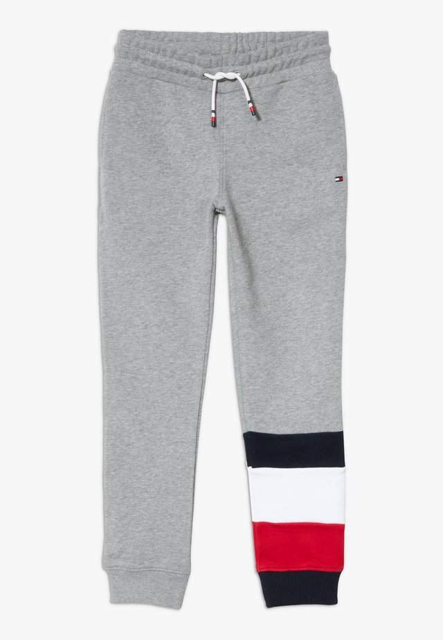 GLOBAL STRIPE COLORBLOCK PANTS - Tracksuit bottoms - grey