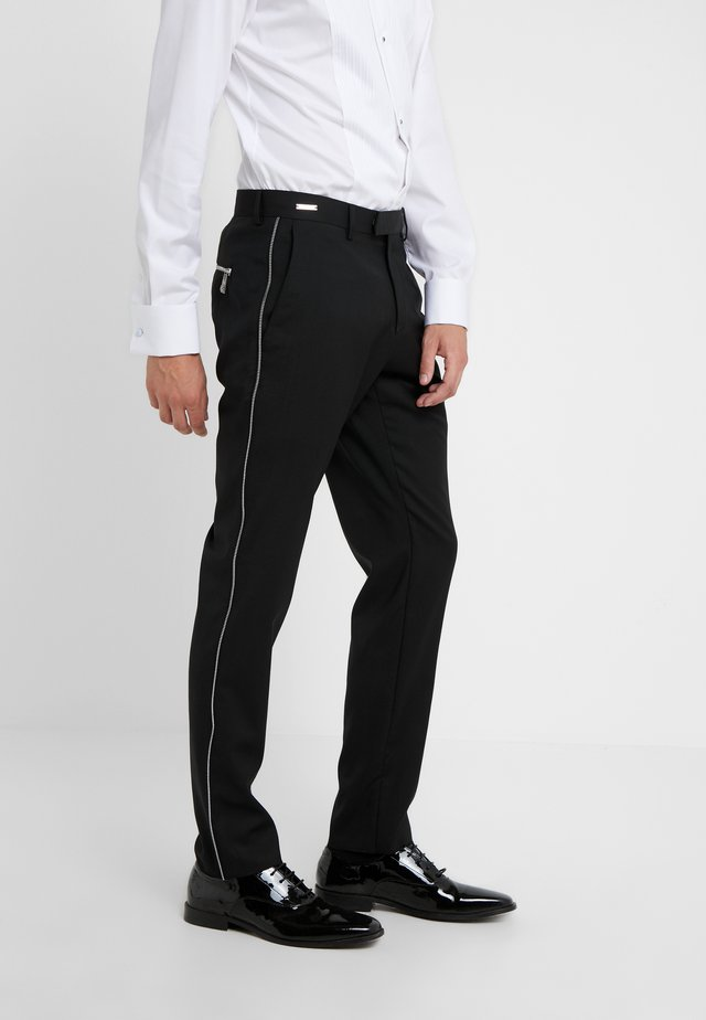 TROUSER - Suit trousers - black