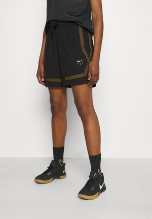 FLY CROSSOVER SHORT - Sports shorts - black/gold