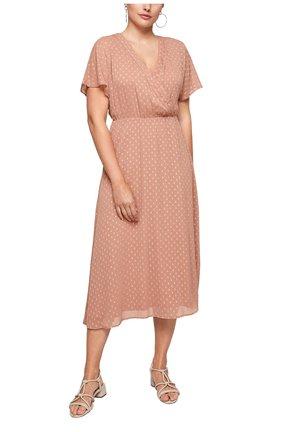 EN MOUSSELINE À MOTIF PLUMETIS - Jersey dress - light pink