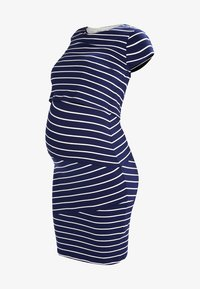 Zalando Essentials Maternity - Jersey dress - dark blue/off white - 5