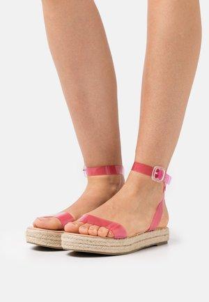 SLAVA - Platform sandals - pink