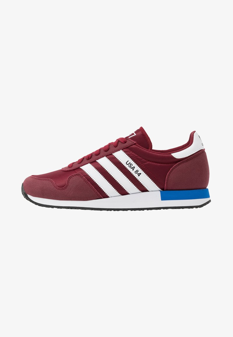 adidas Originals - USA 84 - Trainers - core burgundy/footwear white/blue