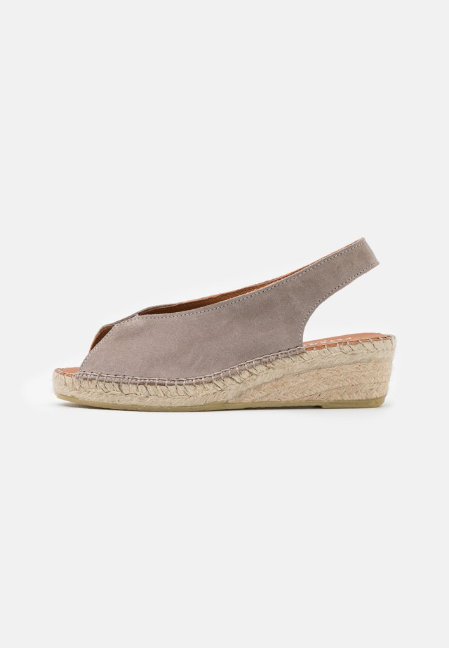 WILLOW - Platform sandals - taupe