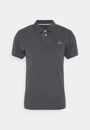 CONTRAST COLLAR RUGGER - Polo shirt - antracit melange