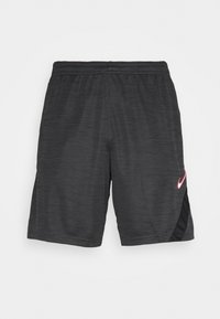 Nike Performance - DRY ACADEMY SHORT - Korte sportsbukser - dark smoke grey heather/black/hyper pink - 3