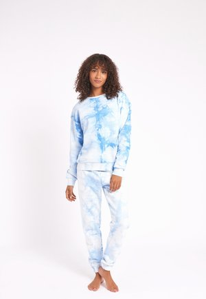 NYC LOUNGE TIE DYE BLUE JOGGER - Tracksuit bottoms - blue