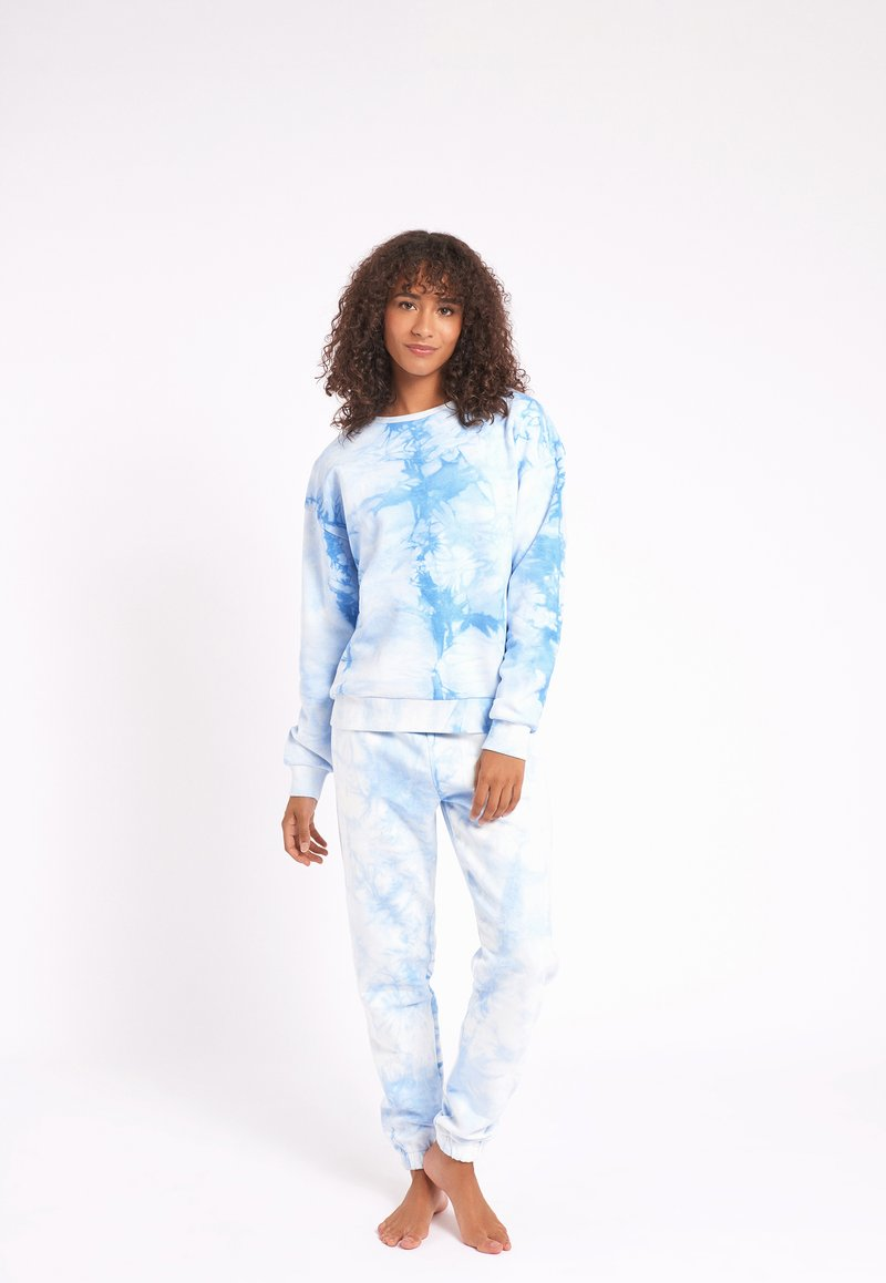 Chelsea Peers - NYC LOUNGE TIE DYE BLUE JOGGER - Tracksuit bottoms - blue