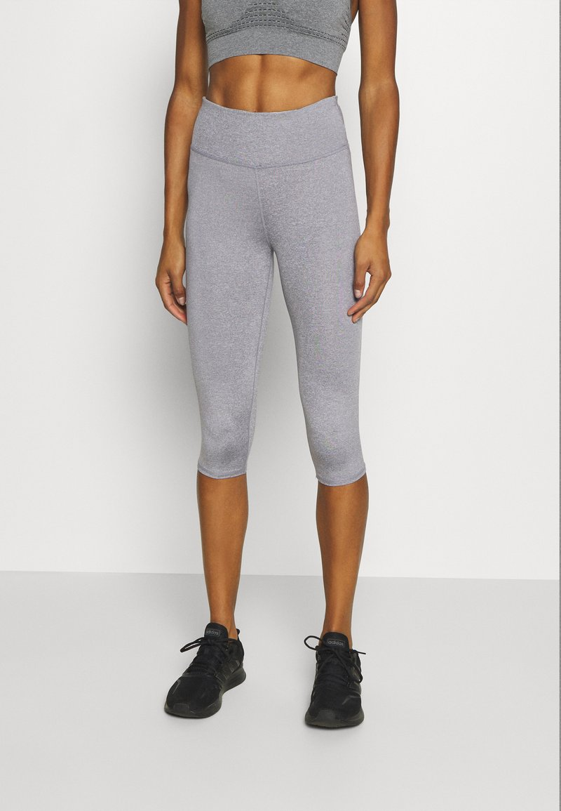 Cotton On Body - ACTIVE CORE CAPRI - 3/4 sports trousers - mid grey marle