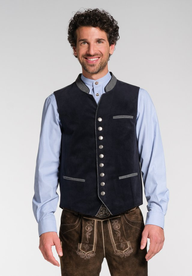 NAAB-WESTE H E - Waistcoat - dark blue