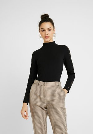 LADIES STRIPED - Maglietta a manica lunga - black