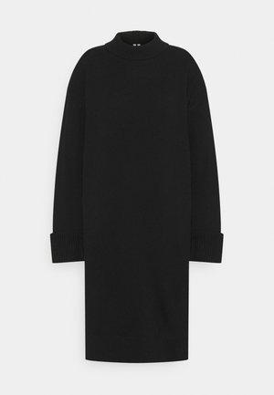 DRESS - Robe pull - black dark