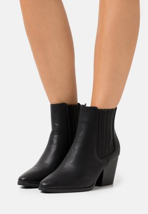 WIDE FIT JOLENE GUSSET BOOT - Botki - black