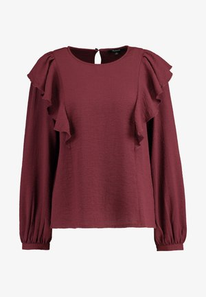 SOLID RUFFLE - Blouse - dark cabernet