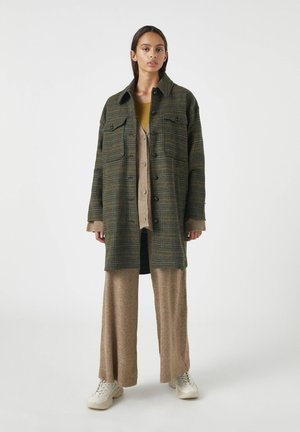 Classic coat - mottled dark green