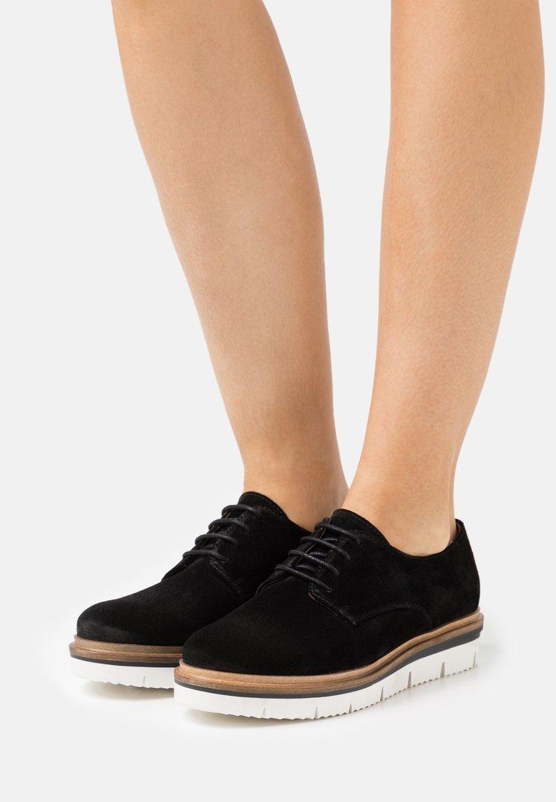 Bianco - BIASTELA LACE SHOE - Lace-ups - black