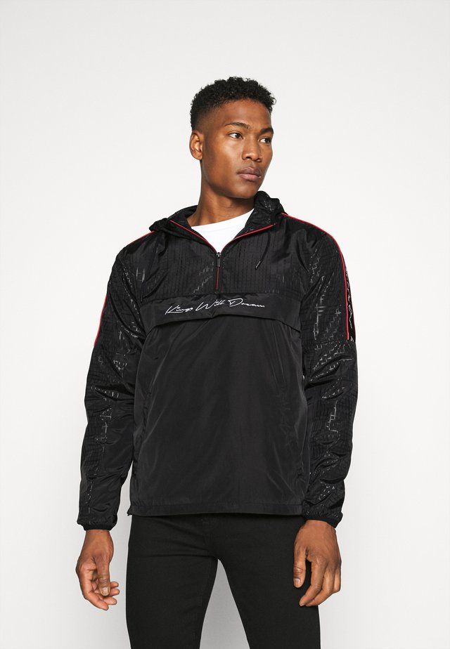 HARROW 1/4 ZIP WINDBREAKER - Summer jacket - black