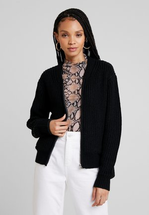 LADIES BOMBER JACKET - Cardigan - black