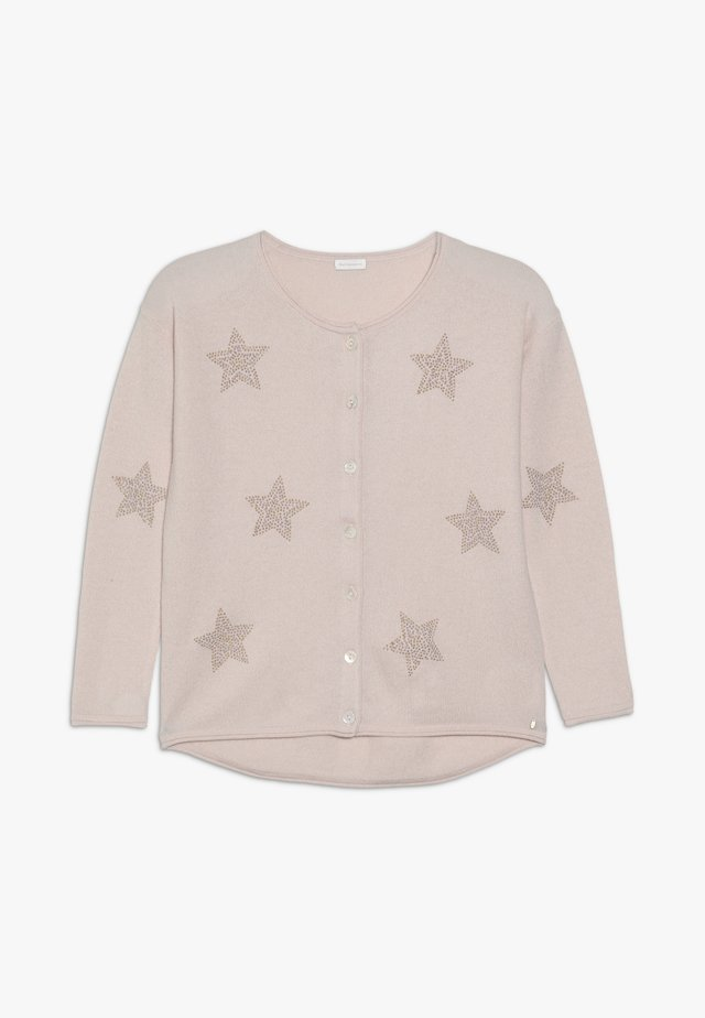 EMILY CARDIGAN STAR  - Neuletakki - tea rose