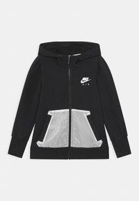 Nike Sportswear - AIR HOODIE - Mikina na zip - black/white - 0
