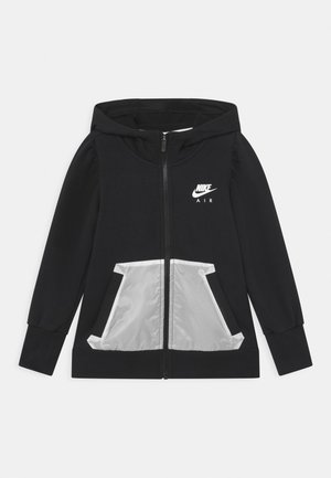 AIR HOODIE - veste en sweat zippée - black/white