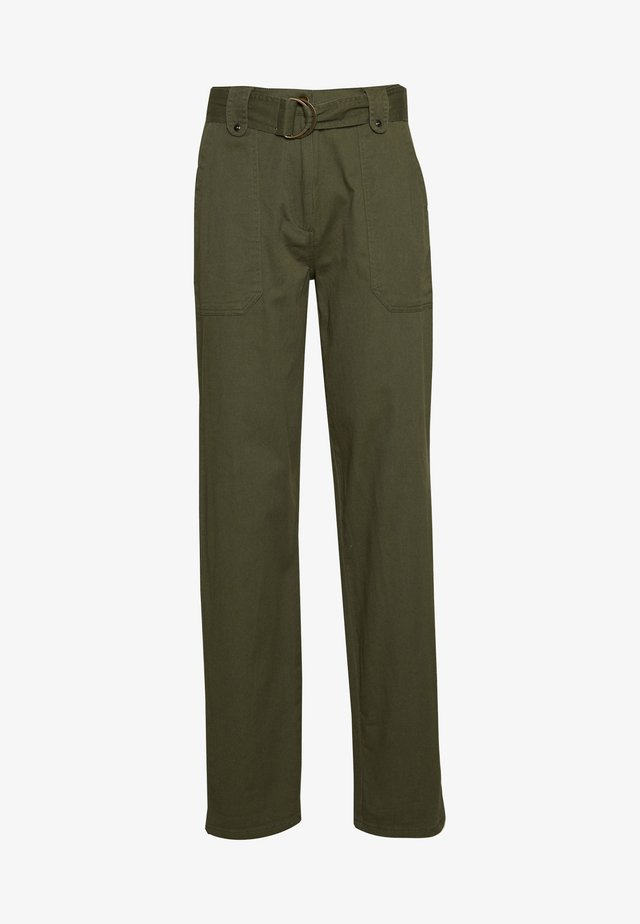 TALL PISTACHIO CARGO BELTED TROUSER - Bukser - olive