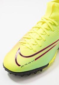 Nike Performance - MERCURIAL JR 7 ACADEMY TF UNISEX - Astro turf trainers - lemon/black/aurora green - 2