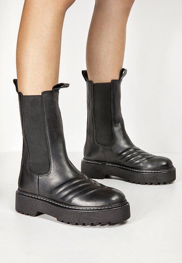 Plateaustøvler - black blk