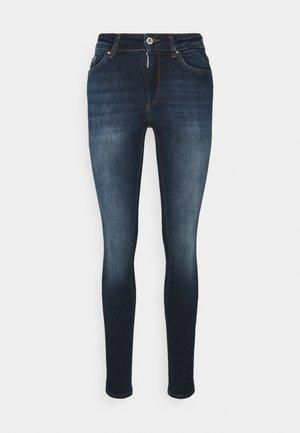 ONLBLUSH LIFE MID - Jeans Skinny Fit - dark blue denim