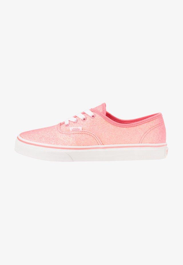 AUTHENTIC - Sneakersy niskie - neon glitter pink/true white