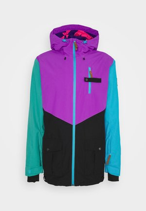 FRESH POW JACKET - Lyžařská bunda - purple/black/green/blue