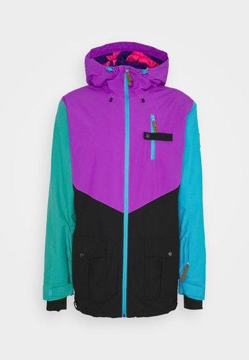 FRESH POW JACKET - Lyžařská bunda - purple/black/green/blue