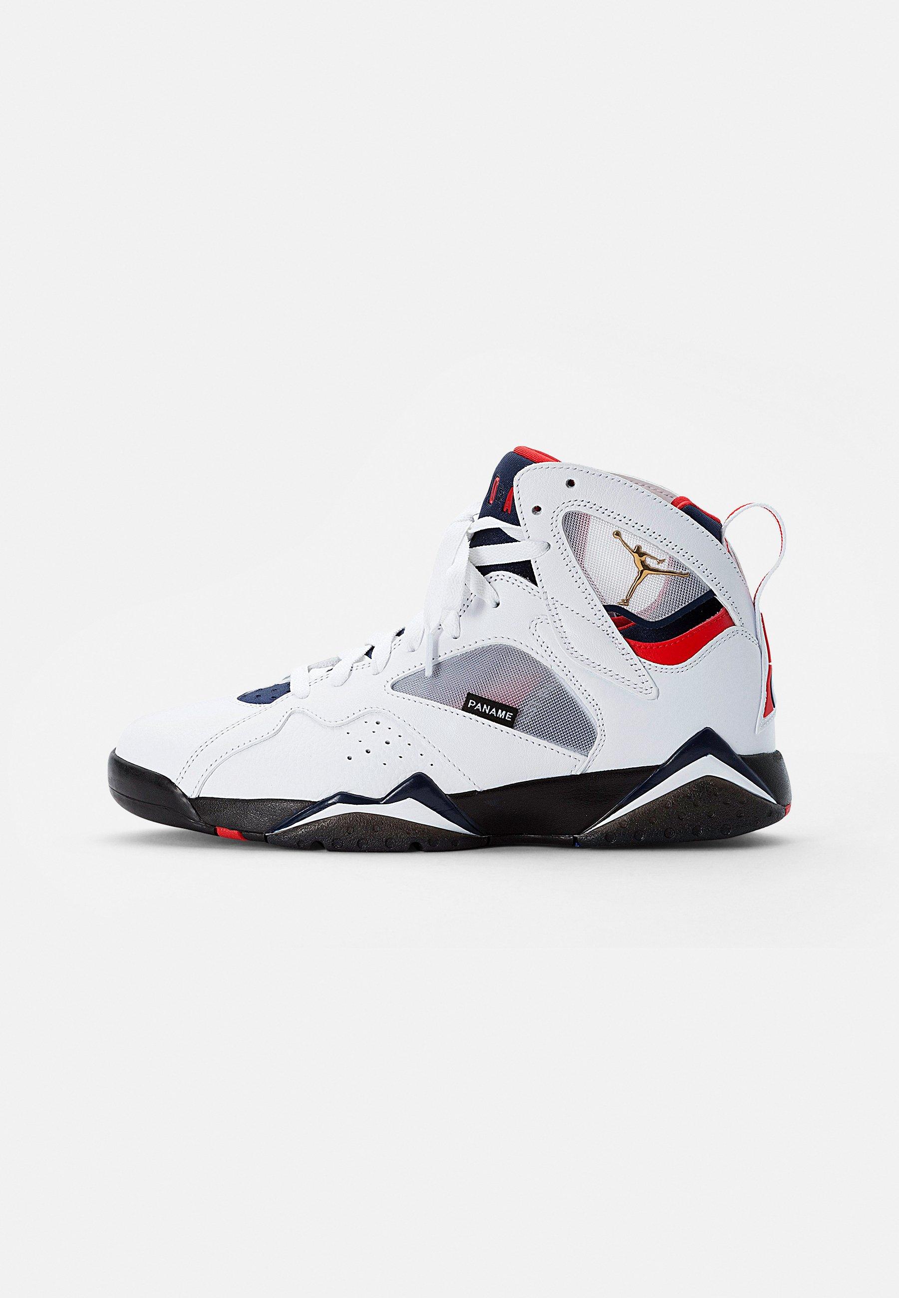 AIR JORDAN 7 RETRO - Baskets montantes - white/univ red-college navy-sport royal-black