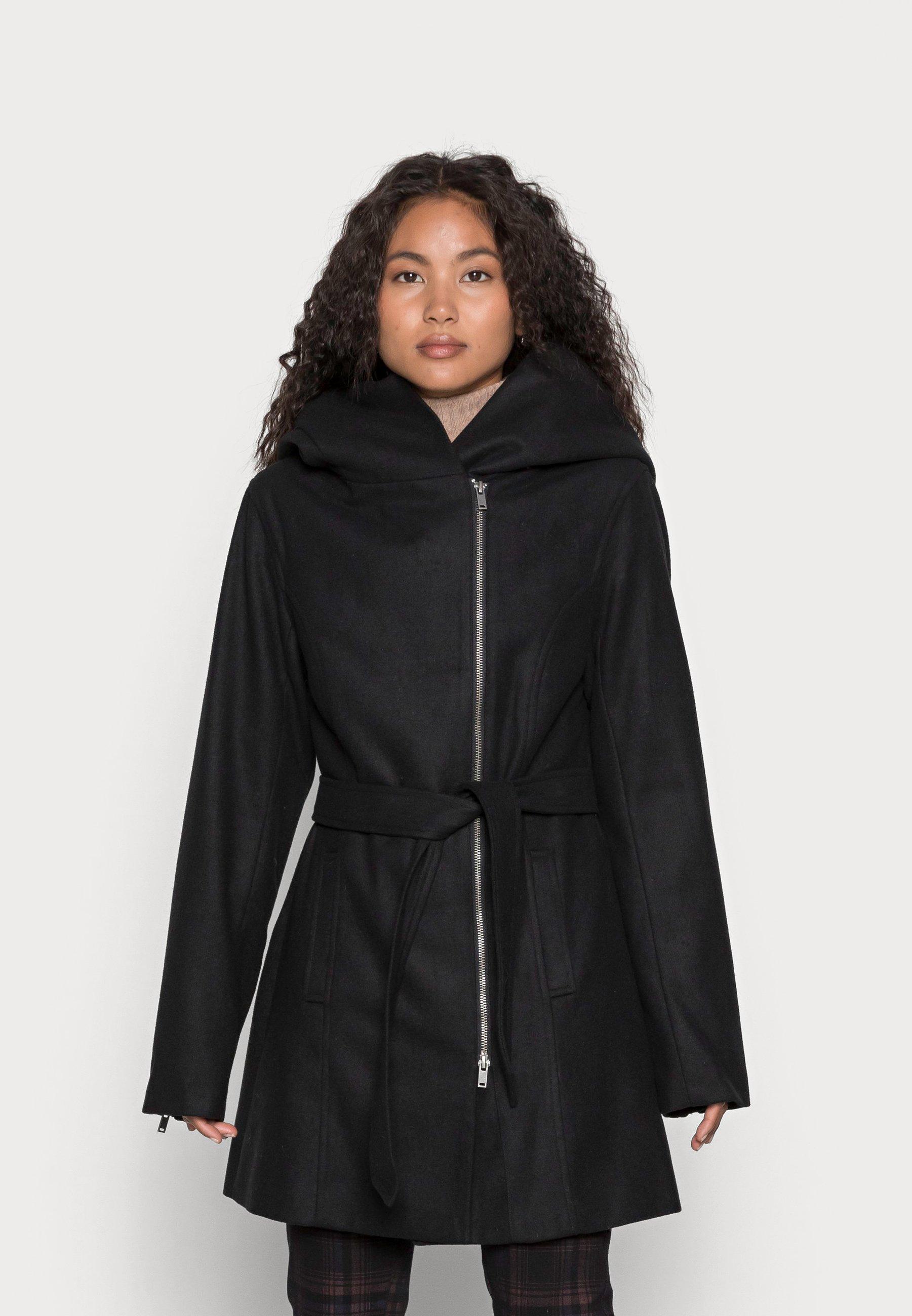 Women HOODIE COAT WITH ZIP - Short coat