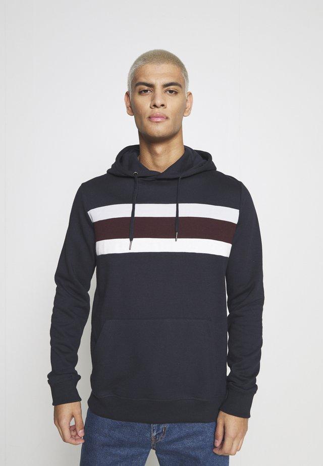 CHEST PANEL OVERHEAD HOOD  - Sweatshirt - navy