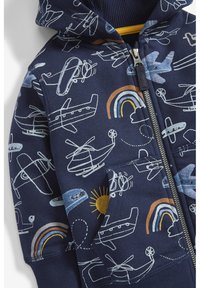Next - NAVY AEROPLANE ALL OVER PRINT ZIP THROUGH HOODY (3MTHS-7YRS) - Cardigan - blue - 2