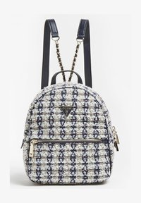 Guess - SAC A DOS CESSILY TWEED - Backpack - blanc multi - 0