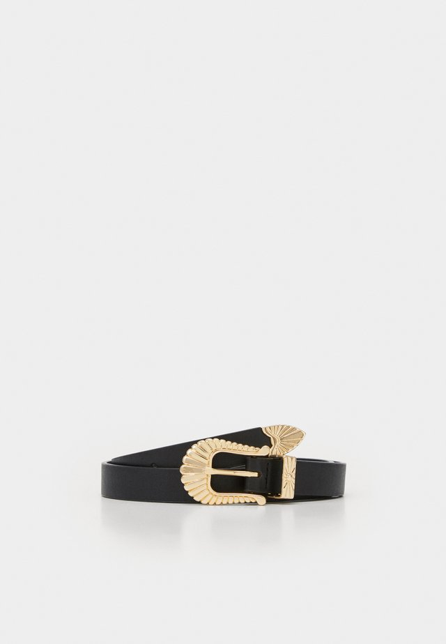 LINI BELT - Pasek - black/gold-coloured