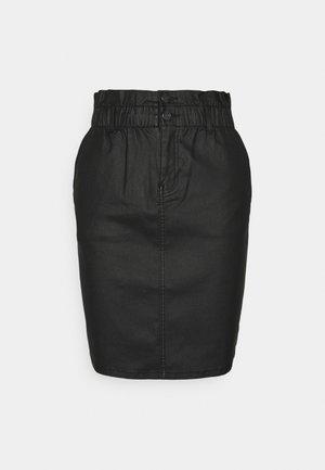 ONLBILLI COATED SKIRT - Pencil skirt - black