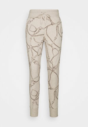 COZETT - Tracksuit bottoms - farro heather