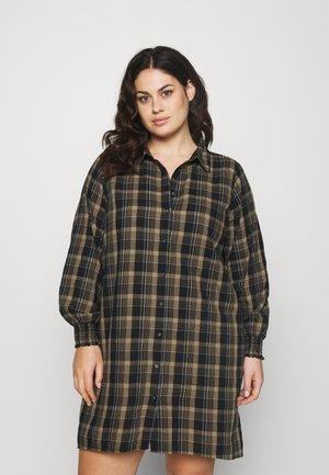 CARFIELS CHECK TUNIC DRESS - Vestido informal - chinchilla