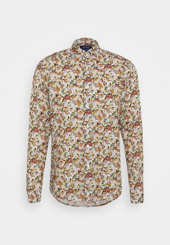 SLIM SOFT STAINED GLASS FLORAL - Shirt - yellow/orange