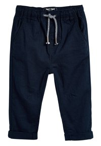 Next - STRIPE/PLAIN 2 PACK LINEN BLEND TROUSERS (3MTHS-7YRS) - Teplákové kalhoty - blue - 3
