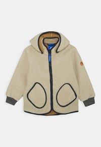 Finkid - TONTTU NALLE UNISEX - Fleece jacket - pebble/navy - 0
