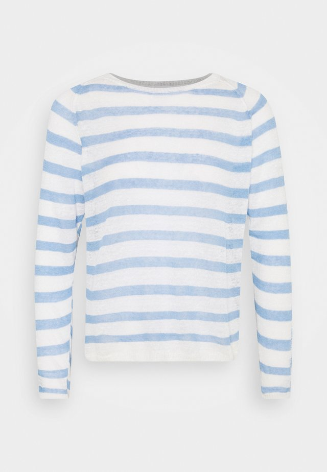CREW NECK STRIPED - Trui - sky blue