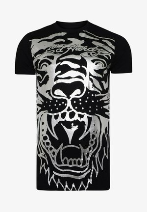 BIG-TIGER T-SHIRT - Print T-shirt - black