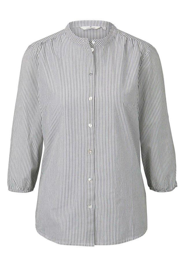 MIT MUSTER - Bluzka - navy white horizontal stripe