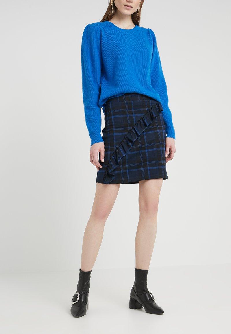 2nd Day - CAST MAXI - Mini skirt - crown blue
