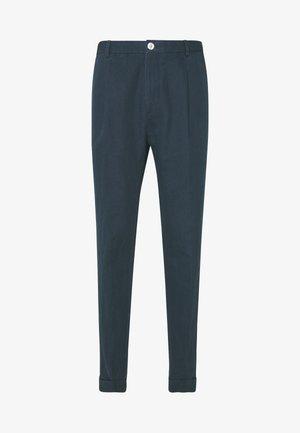 WASHED REGULAR FIT PANT - Pantalon de costume - blue