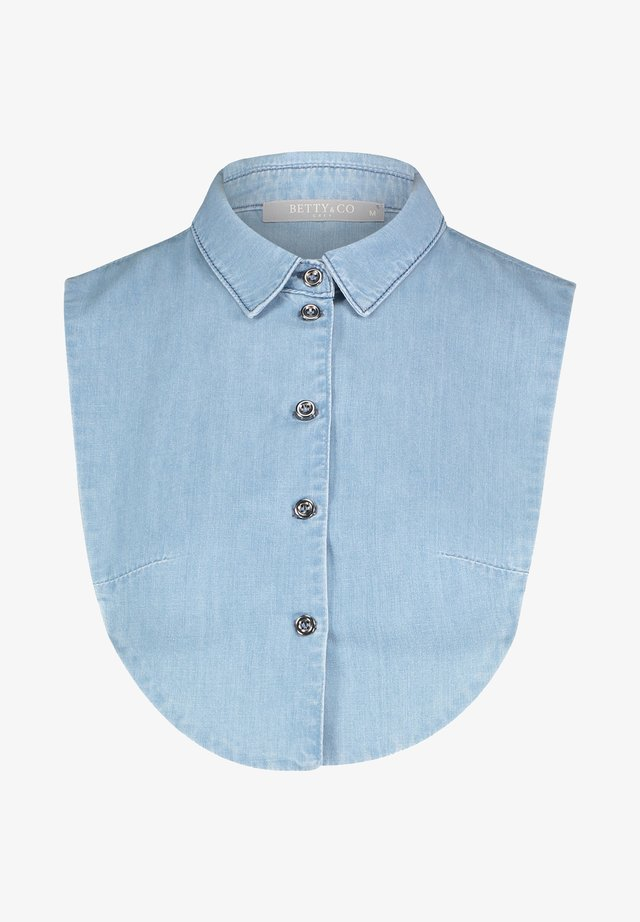 MET KRAAG - Button-down blouse - blauwe